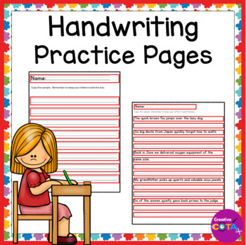 Differentiated writing paper and copy tasks