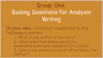 Differentiating Analysis Writing