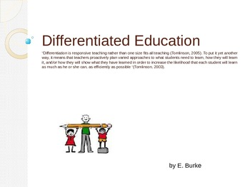 Differentiating Education