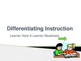 Differentiating Instruction Professional Development Powerpoint