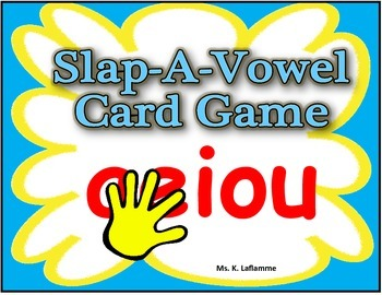 Differentiating Vowels from Consonants Slap A Vowel Card Game