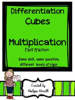 Differentiation Cubes- Multiplication
