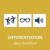 Differentiation Idea Checklist