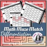 Differentiation (MATH MAZE MATCH)