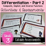 Calculus Differentiation - Part 2 Activities and Assessmen