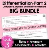 Calculus Differentiation - Part 2 BIG Bundle with Video Le