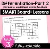 Calculus Differentiation - Part 2 SMART Board Lessons (Unit 3)