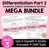Calculus Differentiation - Part 2 MEGA Bundle with Video L