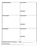 Differentiation Planning Guide