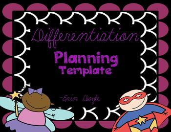 Differentiation Planning Template With Ideas