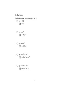 Differentiation - Power, Constant, and Sum Rule