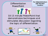 Differentiation PowerPoint for Professional Development