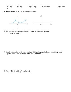 Derivative Quiz 1