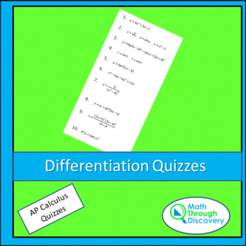 Differentiation Quizzes
