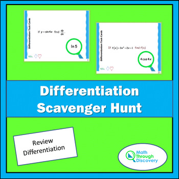Differentiation Scavenger Hunt