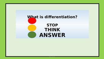 Differentiation - Teacher Development