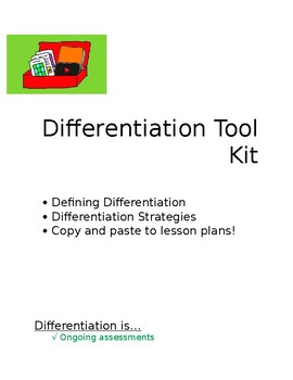 Differentiation Tool Kit