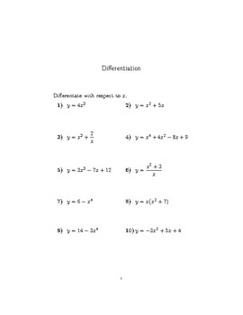 Differentiation basic rules 2