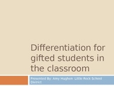 Differentiation for Gifted Students