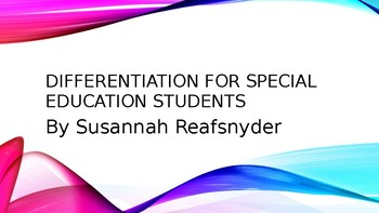 Differentiation for Special Education Students