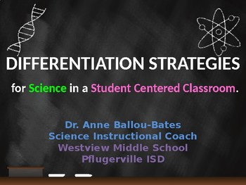 Differentiation in the Science Classroom ppt.