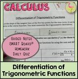 Calculus: Derivatives of Trigonometric Functions