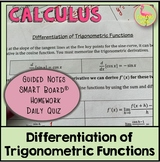 Derivatives of Trigonometric Functions (Calculus - Unit 2)