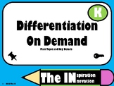 Differentiation on Demand Main Topic and Key Details