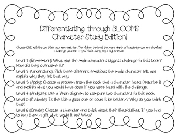 Differentiation through Blooms (Character Study Edition)