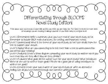 Differentiation through Blooms (Novel Study Edition)