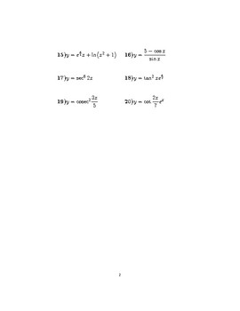 Differentiation using the chain rule