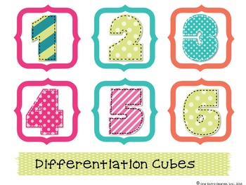 Differentiation with Cubing: Editable Resources