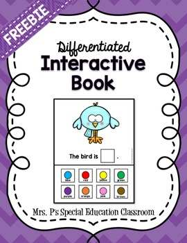 Differentitated Colors Interactive Book FREEBIE