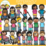 Differently Abled Kids Clip Art