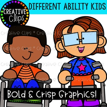 Differently Abled Kids {Creative Clips Clipart}