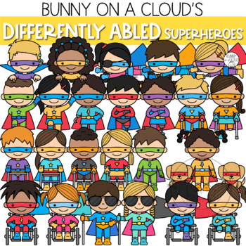 Differently Abled Superheroes Clipart