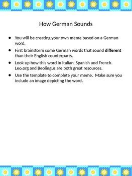Differenze Linguistiche: Meme Template