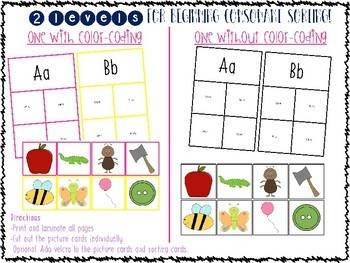 Differienated Literacy (Letter & Phonics) Centers or Task Boxes