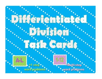 Differientiated Division Task Cards