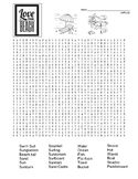 Difficult Beach-Themed Word Search and Coloring Page   (SUB PLAN use?)