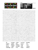 Difficult Black History Month word search and coloring page  (SUB PLAN?)