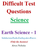 Difficult Test (Answers): MS Science - Earth Science No. 1A