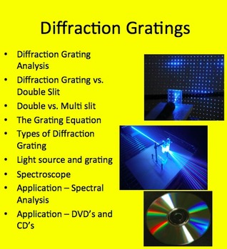 Diffraction Grating - A Physics PowerPoint Package
