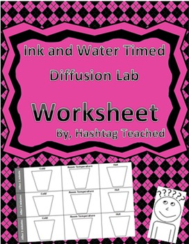 Diffusion Lab Worksheet with Food Coloring and Water