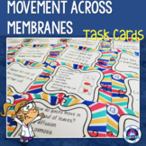 Diffusion, Osmosis & Active Transport Task Cards