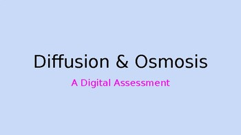 Diffusion & Osmosis Digital Assessment