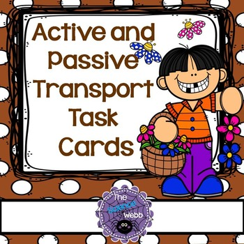 Diffusion, Osmosis, Passive and Active Transport Task Cards