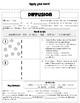 Diffusion & Osmosis Worksheet