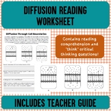 Diffusion Reading Worksheet