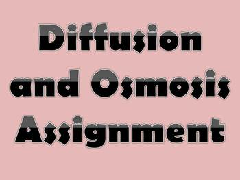 Diffusion and Osmosis Assignment